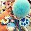 พวงกุญแจ ขนฟู รุ่น Kiss 01 สีฟ้า thumbnail 1