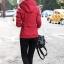 เสื้อกันหนาวแฟชั่น พร้อมส่ง สีแดง แขนยาว แต่งจั๊มปลายแขน มีฮูทลายดาวสุดเท่ห์ ฮูทสามารถถอดออกได้ค่ะ thumbnail 4