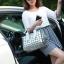 กระเป๋าสะพายข้างผู้หญิงสีขาวเนื้อแมท Fashion Lady thumbnail 10