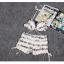 SW02001 ชุดทูพีชสีขาว กางเกงขาสั้น พร้อมเสื้อคลุม thumbnail 9