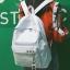 กระเป๋าเป้ LB001 เป้ใบใหญ่ ใส่หนังสือได้ White thumbnail 12