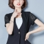 เสื้อสูทแฟชั่น เสื้อสูททำงาน เสื้อสูทสำหรับผู้หญิง พร้อมส่ง สีดำ แขนสั้น ผ้าคอนตอน แต่งแขนด้วยผ้าลูกไม้ ใส่สบาย thumbnail 4