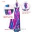maxi dress ชุดเดรสยาว พร้อมส่ง สีฟ้า คอวีลึก สายคล้องคอผูกโบว์ ลายดอกไม้สีชมพูหวาน thumbnail 10