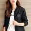เสื้อแจ็คเก็ต เสื้อหนังแฟชั่น พร้อมส่ง สีดำ คอจีน หนัง PU เย็บทับด้วยผ้ามุ้งด้านนอกเก๋ งานเหมือนแบบ 100 % ค่ะ thumbnail 3