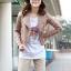 เสื้อแจ็คเก็ต เสื้อหนังแฟชั่น พร้อมส่ง สีชมพู หนังเงา แบบเท่ห์ๆ อินเทรนด์ สไตล์เกาหลี thumbnail 4