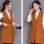 เสื้อกั๊กสูทแฟชั่น เสื้อกั๊กแฟชั่น เสื้อส้มอิฐ เสื้อสูทแขนกุด พร้อมส่ง สีส้มอิฐ เนื้อผ้า Polyester งานสวย คุณภาพดี มีซับใน ใส่สบาย thumbnail 6