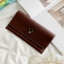 กระเป๋าสตางค์ผู้หญิง Leather 001 สีดำ thumbnail 5