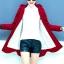 เสื้อกันหนาว พร้อมส่ง สีแดงสด ผ้าฟลีซ ใส่สบาย แบบเรียบเก๋ thumbnail 3