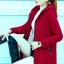 เสื้อกันหนาว พร้อมส่ง สีแดงสด ผ้าฟลีซ ใส่สบาย แบบเรียบเก๋ thumbnail 2