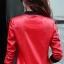 เสื้อแจ็คเก็ต เสื้อหนังแฟชั่น พร้อมส่ง สีแดง หนัง PU คุณภาพงานพรีเมี่ยม งานเหมือนแบบ 100 % ค่ะ แขนยาว จั้มช่วงเอวและแขนเสื้อ thumbnail 4