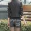 เสื้อแจ็คเก็ตหนัง เสื้อหนังแฟชั่น พร้อมส่ง แขนยาว สีดำ คอจีน แขนยาว เข้ารูป แบบซิปรูด สุดเท่ห์ แบบเก๋มากๆ thumbnail 2