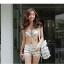 SW02001 ชุดทูพีชสีขาว กางเกงขาสั้น พร้อมเสื้อคลุม thumbnail 10