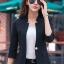 เสื้อสูทแฟชั่น เสื้อสูทสำหรับผู้หญิง พร้อมส่ง สีดำ คอวี แต่งเว้าช่วงคอเสื้อ คัตติ้งสวย งานเนี๊ยบ thumbnail 4