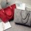 กระเป๋าสะพายข้างใบใหญ่ Leather woman (Red) thumbnail 12