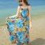 MAXI DRESS ชุดเดรสยาว พร้อมส่ง สีโทนฟ้า ผ้าชีฟอง เนื้อนิ่ม ใส่สบาย พิมพ์ลายดอกไม้สวยมากๆค่ะ มีซับใน รับรองสินค้าจริงเหมือนแบบ 100 % thumbnail 4
