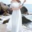 MAXI DRESS ชุดเดรสยาว พร้อมส่ง สีขาว ผ้าชีฟองเนื้อผ้าวิ้งๆ สวยมากๆค่ะ ดีเทลระบายเป็นชั้นช่วงคอเสื้อ กระโปรงบานพริ้วๆ thumbnail 3