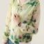 เสื้อคลุม พร้อมส่ง เสื้อคุลมแฟชั่น สีโทนเขียว ผ้าชีฟอง เนื้อบาง ใส่สบาย แต่งลายดอกไม้หวานๆ thumbnail 3