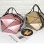 กระเป๋าสะพายข้างผู้หญิงพับได้ Fashion woman (Blond gold) thumbnail 9
