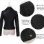 เสื้อแจ็คเก็ต เสื้อหนังแฟชั่น พร้อมส่ง สีดำ หนัง PU คุณภาพงานพรีเมี่ยม คอปกโฉบเฉี่ยว หนังนิ่ม ใส่สบาย thumbnail 7