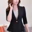เสื้อสูทแฟชั่น เสื้อสูทสำหรับผู้หญิง พร้อมส่ง สีดำ ผ้าคอตตอน 100 % เนื้อดี thumbnail 3