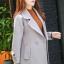 เสื้อโค้ทแฟชั่น Overcoat พร้อมส่ง สีเทา คอปก สุดเท่ห์ แต่งสายคาดเอวด้านหลัง thumbnail 3