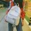 กระเป๋าเป้ LB001 เป้ใบใหญ่ ใส่หนังสือได้ White thumbnail 9