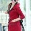 เสื้อโค้ท เสื้อกันหนาว พร้อมส่ง สีแดง แขนยาวจั๊มปลายแขน แต่งตัดด้วยสีน้ำตาลสีสวย thumbnail 3