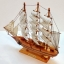 เรือสำเภาไม้จำลองตั้งโชว ขนาด 14 นิ้ว thumbnail 2