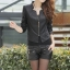 เสื้อแจ็คเก็ตหนัง เสื้อหนังแฟชั่น พร้อมส่ง แขนยาว สีดำ คอจีน แขนยาว เข้ารูป แบบซิปรูด สุดเท่ห์ แบบเก๋มากๆ thumbnail 3