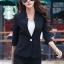เสื้อสูทแฟชั่น เสื้อสูทสำหรับผู้หญิง พร้อมส่ง สีดำ คอวี แต่งเว้าช่วงคอเสื้อ คัตติ้งสวย งานเนี๊ยบ thumbnail 3