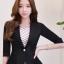 เสื้อสูทแฟชั่น เสื้อสูทสำหรับผู้หญิง พร้อมส่ง สีดำ ผ้าคอตตอน 100 % เนื้อดี thumbnail 1