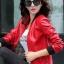 เสื้อแจ็คเก็ต เสื้อหนังแฟชั่น พร้อมส่ง สีแดง หนัง PU คุณภาพงานพรีเมี่ยม งานเหมือนแบบ 100 % ค่ะ แขนยาว จั้มช่วงเอวและแขนเสื้อ thumbnail 3