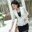เสื้อสูทแฟชั่น เสื้อสูทสำหรับผู้หญิง พร้อมส่ง สีขาว ผ้าคอตตอน 100 % เนื้อดี คุณภาพงานพรีเมี่ยม งานตัดเย็บเนี๊ยบ thumbnail 4