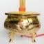 กระถางธูปไฟฟ้าสีทองลายมังกรหงส์ 3 ดอก thumbnail 2