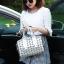 กระเป๋าสะพายข้างผู้หญิงสีขาวเนื้อแมท Fashion Lady thumbnail 9