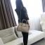 กระเป๋าสะพายข้างผู้หญิง PU Nature (สี White pearl) thumbnail 4