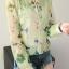 เสื้อคลุม พร้อมส่ง เสื้อคุลมแฟชั่น สีโทนเขียว ผ้าชีฟอง เนื้อบาง ใส่สบาย แต่งลายดอกไม้หวานๆ thumbnail 5