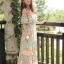 MAXI DRESS ชุดเดรสยาว พร้อมส่ง ผ้าชีฟอง ลายดอกไม้ โทนเขียวอมฟ้า thumbnail 4