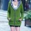 เสื้อกันหนาว พร้อมส่ง สีเขียว ซิบหน้า มีฮูทสุดเท่ห์ ฮูทบุด้วยขนสัตว์สังเคราะห์นิ่มๆ thumbnail 1