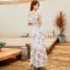 MAXI DRESS ชุดเดรสยาว พร้อมส่ง สีขาว ลายดอกกุหลาบหวาน น่ารักมากๆค่ะ เนื้อผ้าชีฟอง อย่างดี thumbnail 3