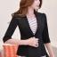 เสื้อสูทแฟชั่น เสื้อสูทสำหรับผู้หญิง พร้อมส่ง สีดำ ผ้าคอตตอน 100 % เนื้อดี thumbnail 2