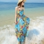 MAXI DRESS ชุดเดรสยาว พร้อมส่ง สีโทนฟ้า ผ้าชีฟอง เนื้อนิ่ม ใส่สบาย พิมพ์ลายดอกไม้สวยมากๆค่ะ มีซับใน รับรองสินค้าจริงเหมือนแบบ 100 % thumbnail 5