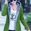 เสื้อกันหนาว พร้อมส่ง สีเขียว ซิบหน้า มีฮูทสุดเท่ห์ ฮูทบุด้วยขนสัตว์สังเคราะห์นิ่มๆ thumbnail 4