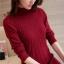 เสื้อกันหนาวไหมพรม พร้อมส่ง สีแดง คอปิด แต่งลายน่ารัก แขนยาว ตัวยาวคลุมสะโพก ใส่กันหนาวได้ค่ะ thumbnail 8