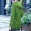 เสื้อกันหนาว พร้อมส่ง สีเขียว ซิบหน้า มีฮูทสุดเท่ห์ ฮูทบุด้วยขนสัตว์สังเคราะห์นิ่มๆ thumbnail 3