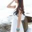 MAXI DRESS ชุดเดรสยาว พร้อมส่ง สีขาว ผ้าชีฟองเนื้อผ้าวิ้งๆ สวยมากๆค่ะ ดีเทลระบายเป็นชั้นช่วงคอเสื้อ กระโปรงบานพริ้วๆ thumbnail 7