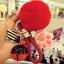 พวงกุญแจ ขนฟู รุ่น Kiss 01 สีแดง thumbnail 1