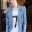 เสื้อแจ็คเก็ต เสื้อหนังแฟชั่น พร้อมส่ง สีฟ้า หนังด้าน มาดเซอร์ คอจีน ดีเทลด้วยปกโฉบเฉี่ยว สุดเท่ห์ thumbnail 2
