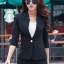 เสื้อสูทแฟชั่น เสื้อสูทสำหรับผู้หญิง พร้อมส่ง สีดำ คอวี แต่งเว้าช่วงคอเสื้อ คัตติ้งสวย งานเนี๊ยบ thumbnail 2