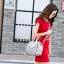 กระเป๋าสะพายข้างผู้หญิงสีขาวเนื้อแมท Fashion Lady thumbnail 12